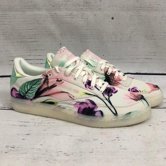+HP+ REEBOK NWOT Club C 85 Xray Botanical Shoes